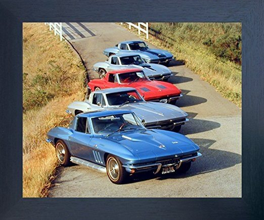 Best Corvette Artworks For Your Man Cave - Chevy Corvettes in a Row Transportation Vintage Car