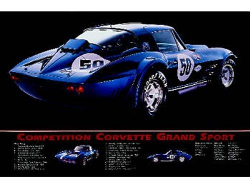 Best Corvette Artworks For Your Man Cave - Corvette Print Grand Sport