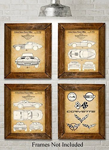 Best Corvette Artworks For Your Man Cave - Original Corvette Patent Art Prints