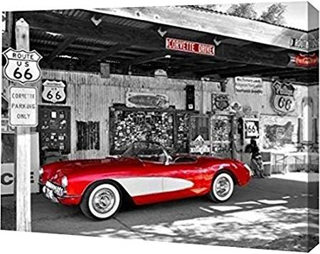 Best Corvette Artworks For Your Man Cave - Red Corvette by Vadim Ratsenskiy