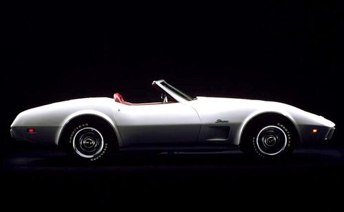A White 1975 Chevrolet Corvette Convertible