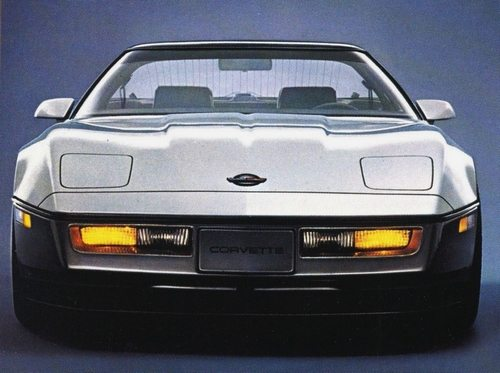 The 1984 Chevrolet Corvette in Silver / Medium Gray