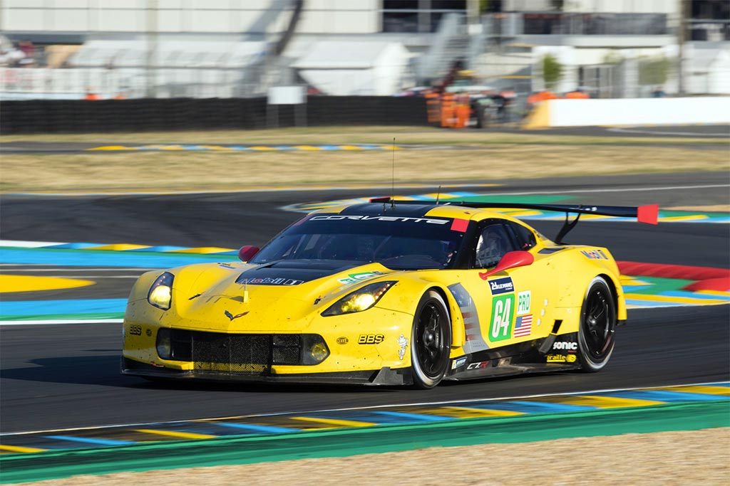 The No. 64 Corvette suffered an 8th place finish in class after losing a wheel early in the race.