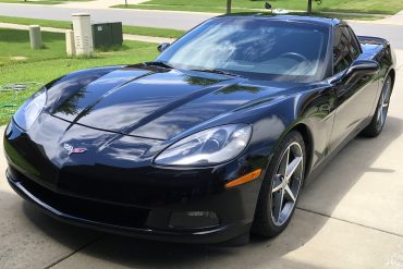 """Scott Kolecki, content writer and Corvette enthusiast, preps his car for """"Drive Your Corvette To Work"""" Day on Friday, June 30, 2017."""