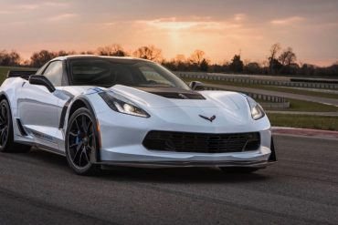 A White 2018 Chevy Corvette Carbon 65 Edition