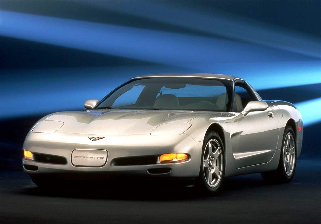 1997 Silver Corvette Coupe