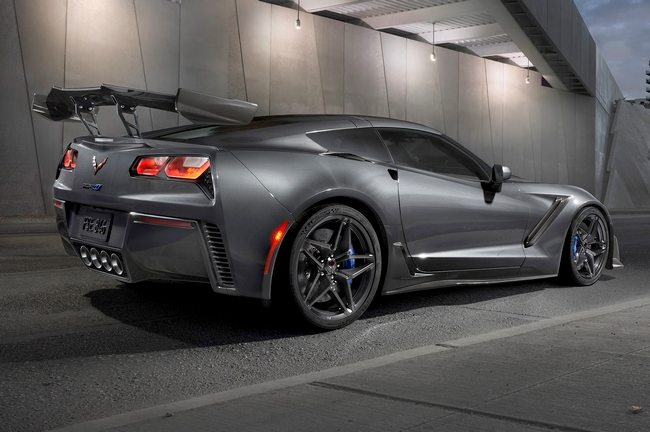 2019 Corvette ZR1 in Gray with High Wing Design