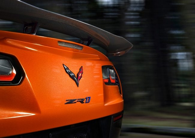 2019 Corvette ZR1 in Sebring Orange with Low Wing Package installed
