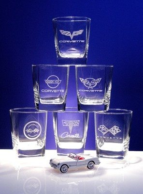 Corvette Generations Glass Set