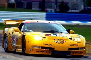 The 2001 C5.R Corvette Race Car in Competition Yellow