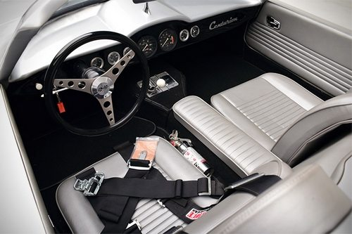 Interior of Inca Silver Centurion Corvette