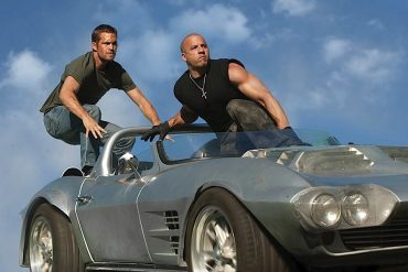 1963 Silver Corvette Grand Sport with Paul Walker and Vin Diesel