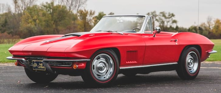 1967 Chevrolet Corvette Convertible in Rally Red