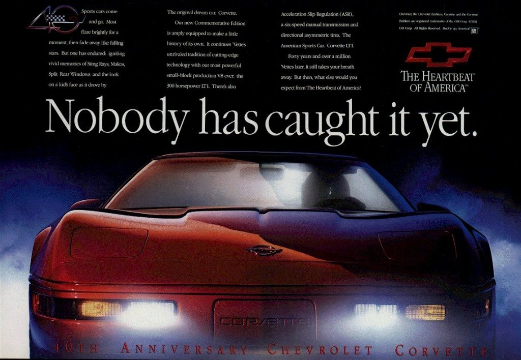 1993 Corvette Advertisement