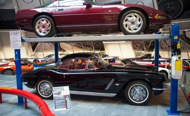 1962 Corvette on display at NCM