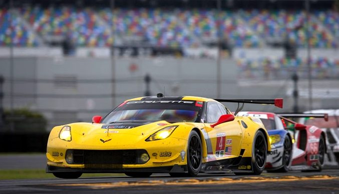 The No. 4 C7.R Corvette
