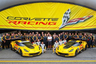The Corvette Racing Teams No. 3 and No. 4 Corvette C7.R