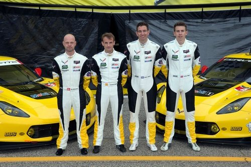 Jan Magnussen, Antonio Garcia, Oliver Gavin and Tommy Milner
