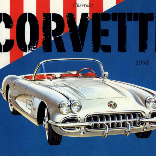 1958 Corvette Sales Brochure