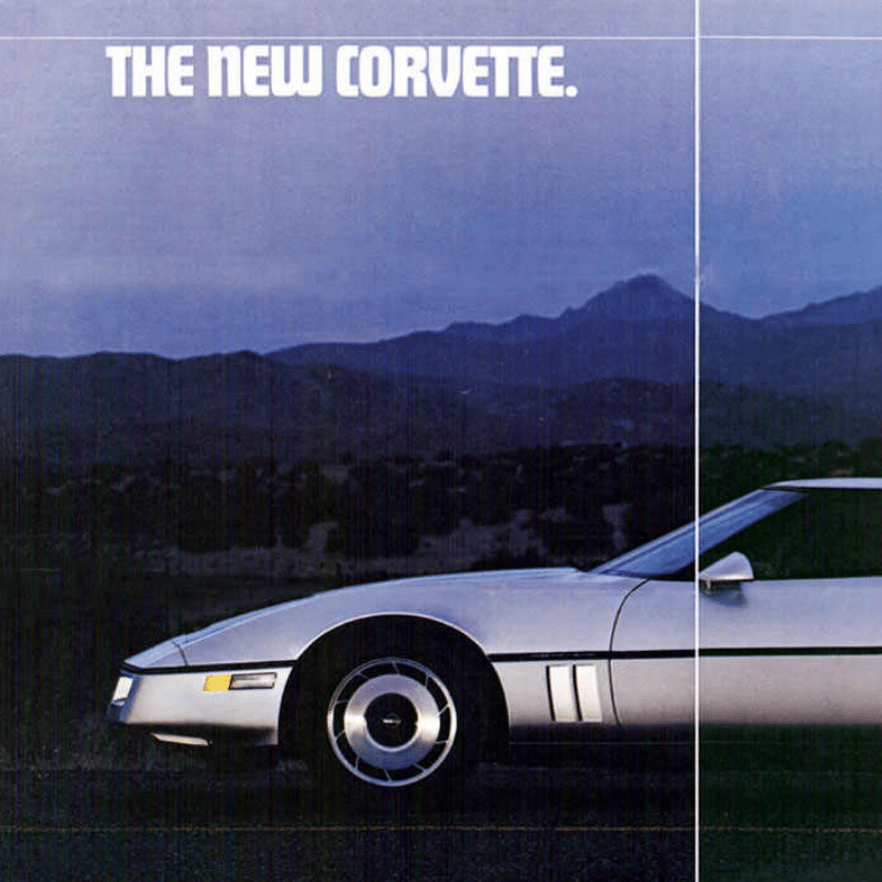 1984 Corvette Sales Brochure
