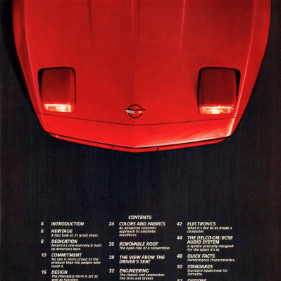 1985 Corvette Sales Brochure