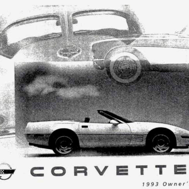 Corvette 1993 Owners  Manual