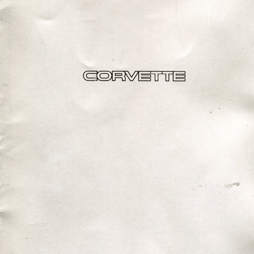 1993 Corvette Sales Brochure