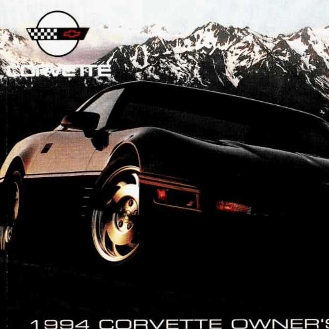 1994 Corvette Owners Manual