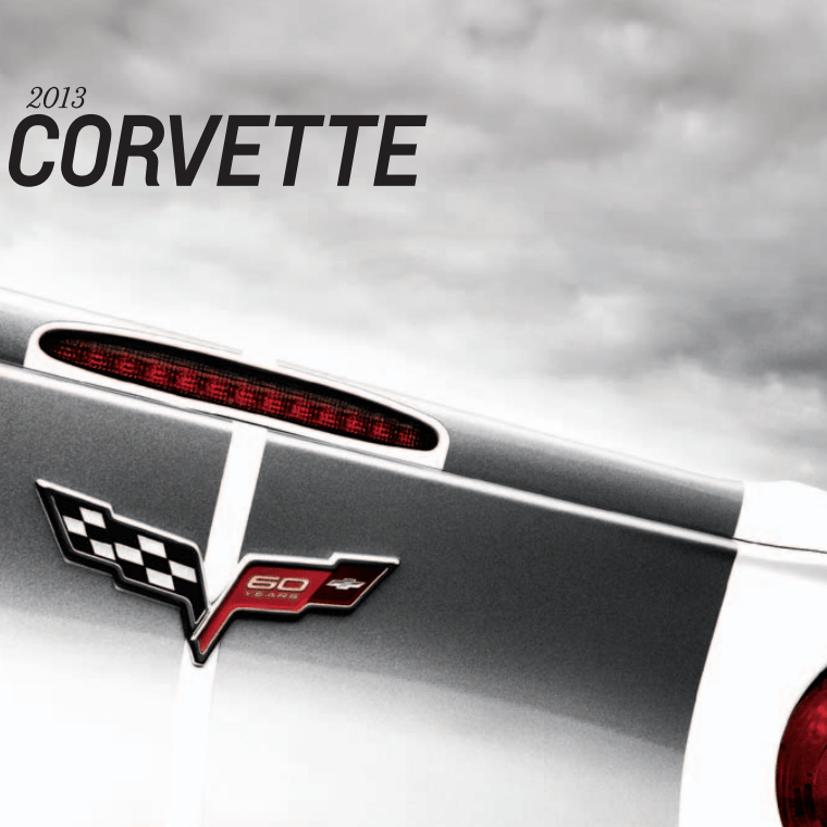 2013 Corvette Sales Brochure