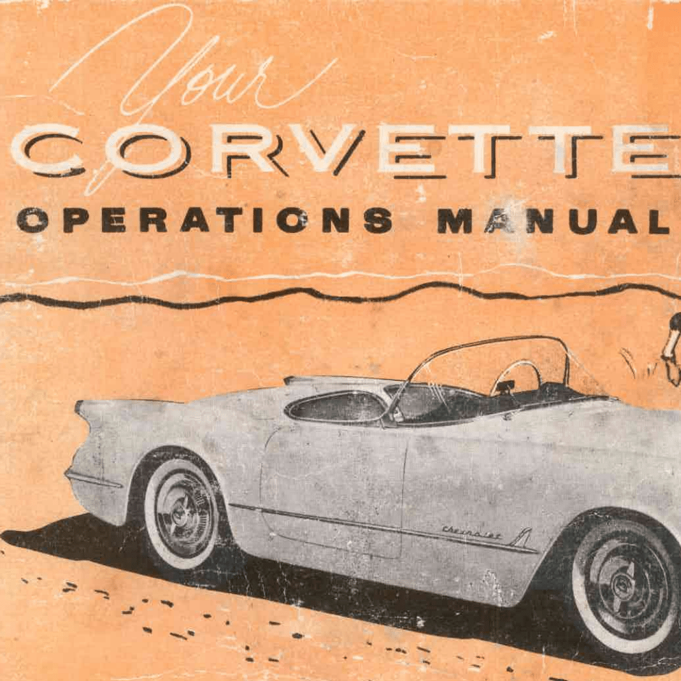 Corvette 1954 Owners Manual