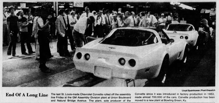 News artiucle - final Corvette in St. Louis