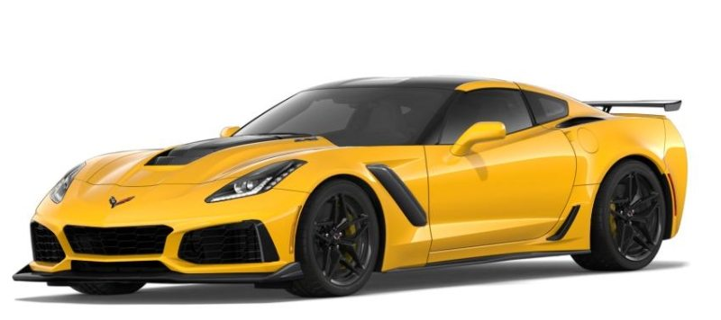 Our customized ZR1 Corvette in Corvette Racing Yellow.