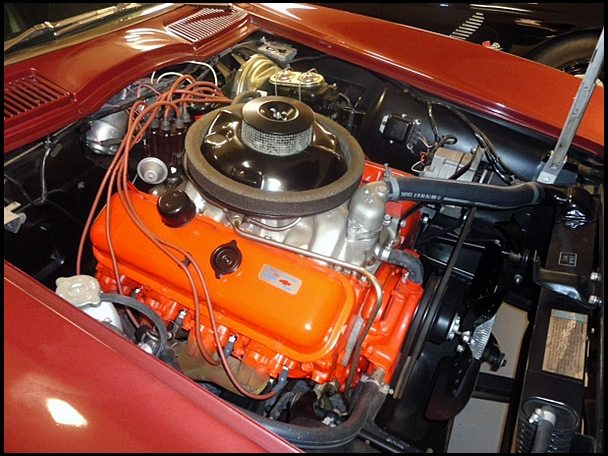 1967 L88 Engine with orange valve covers