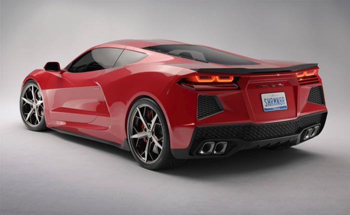 2020 mid-engine Corvette rear view