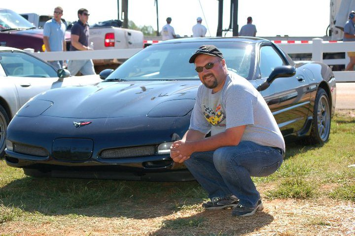Black Z06 Corvette Coupe and Scott Kolecki