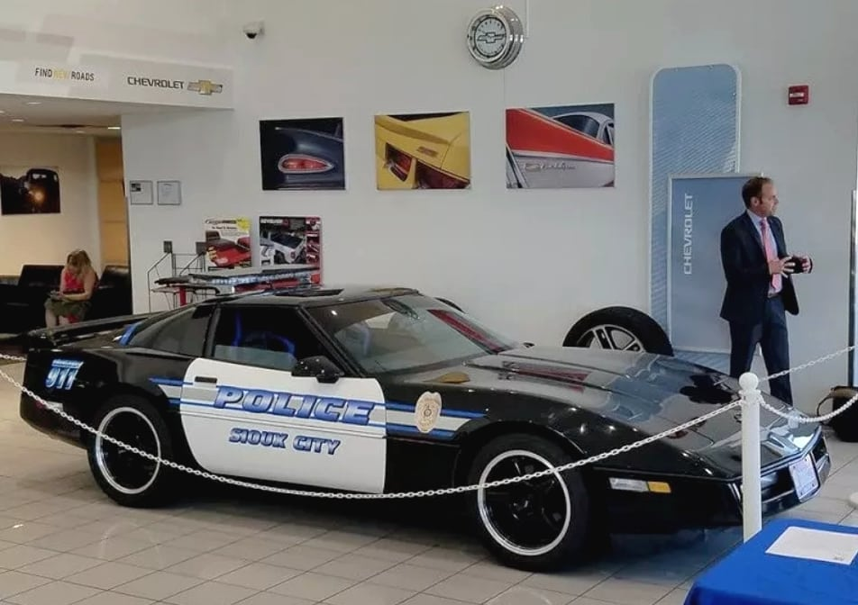 Officer McCormick 1986 Corvette