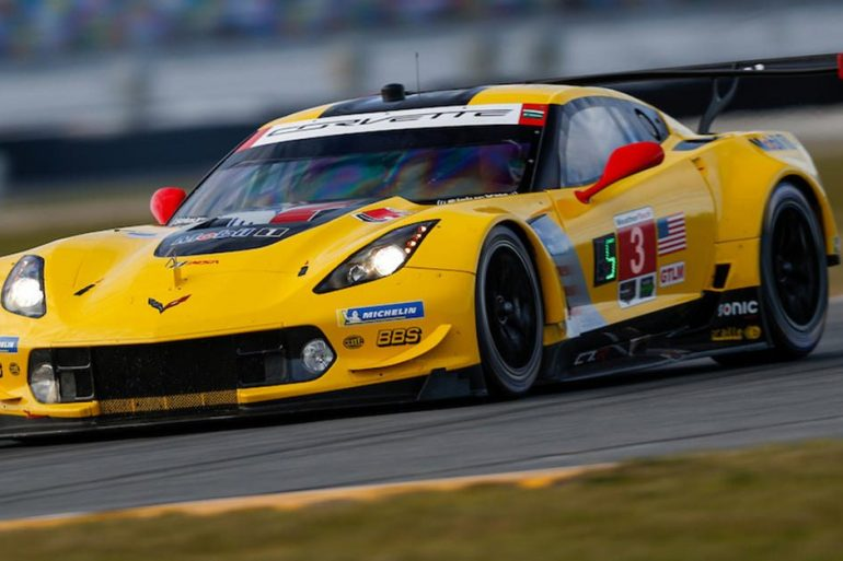 The No. 3 Mobil 1/SiriusXM C7.R Corvette