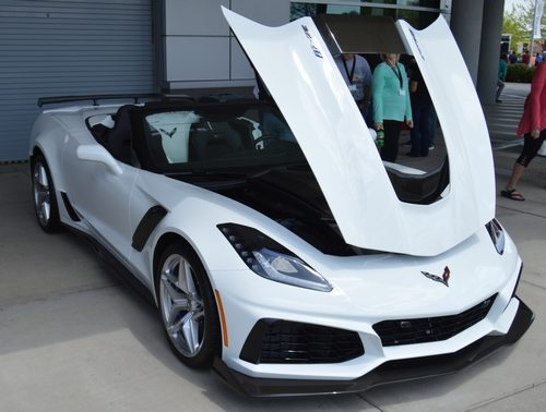 2019 White Corvette ZR1 Convertible