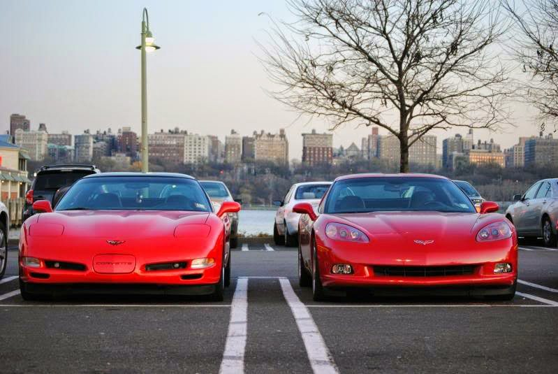 C5 and C6 Corvettes in Red