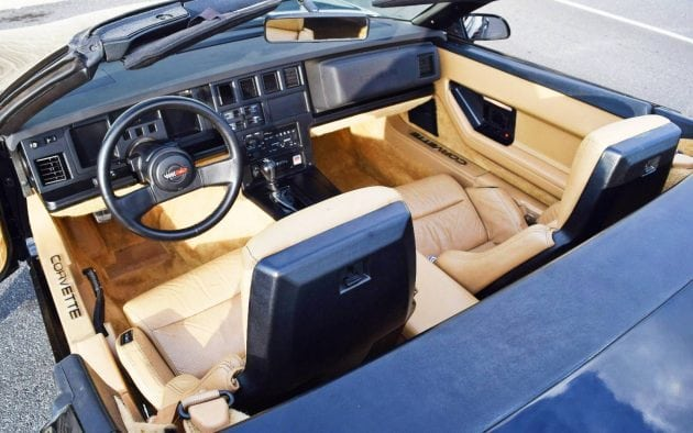 1986 Corvette Convertible Interior
