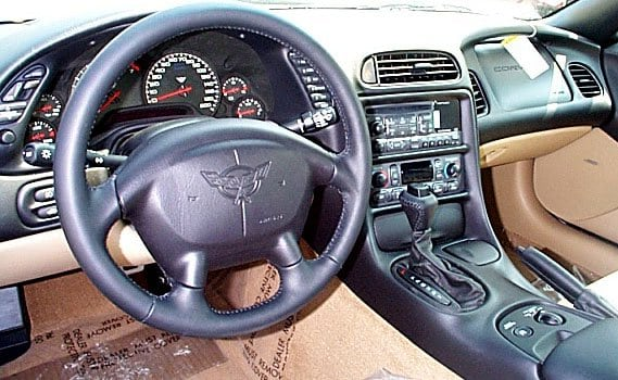 1999 Corvette Convertible interior