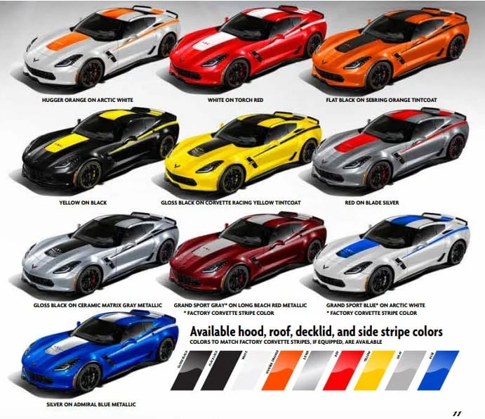 Yenko Corvette Color Choices