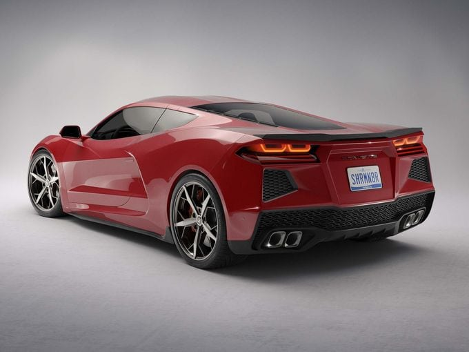2020 mid-engine Corvette rendering