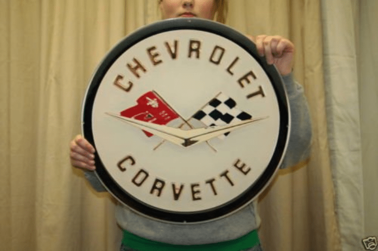 1958-1962 Corvette Emblem Metal Sign
