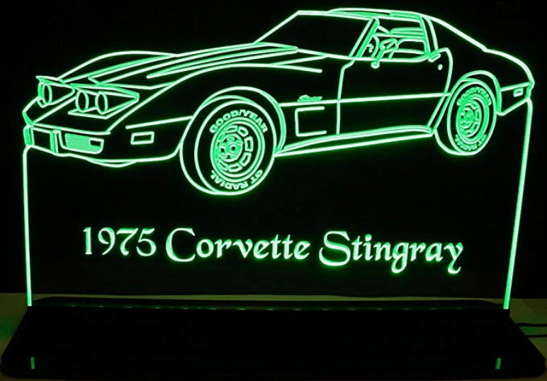 1975 Corvette Stingray Acrylic Lighted Edge