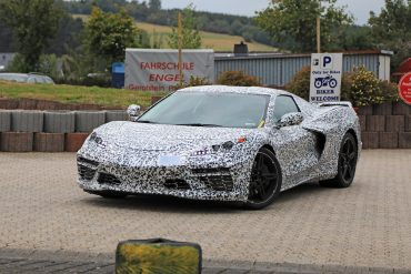 2020 Mid-Engine Corvette spy shot