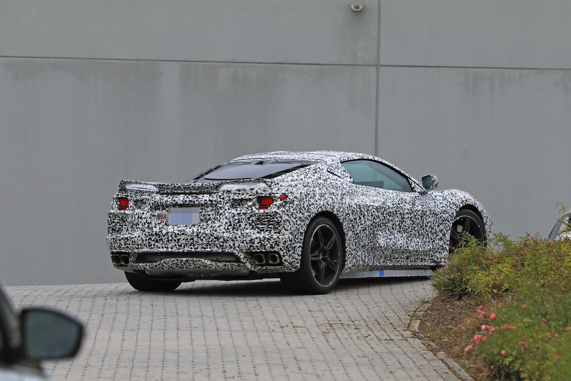 The 2020 Mid-Engine Corvette photographed near the Nurburgring on September 3, 2018.