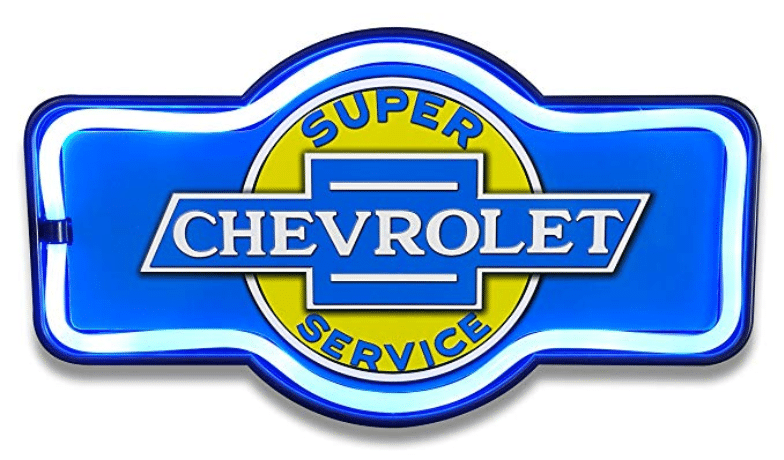 Chevrolet Chevy Super Service Garage Marquee Sign