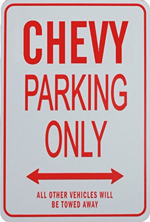 Chevy Parking Only