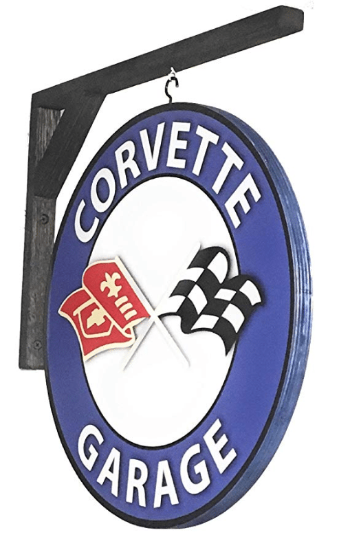 Corvette Garage Sign